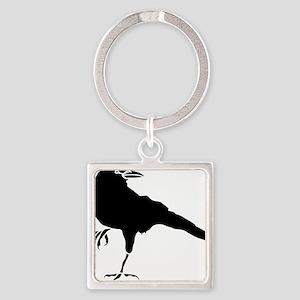 Crow Square Keychain