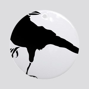 Crow Round Ornament