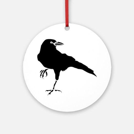 Crow Round Ornament