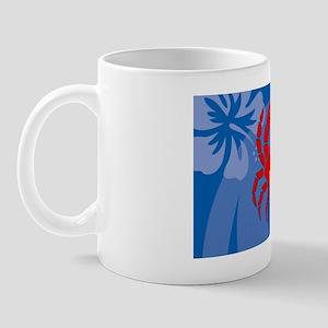 Crab Car Flag Mug