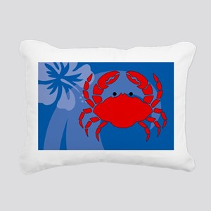 Crab Car Flag Rectangular Canvas Pillow