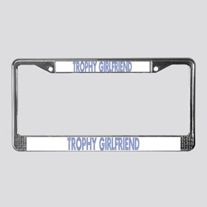 Trophy GF Blue License Plate Frame