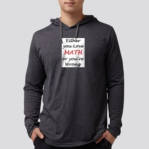 love math or Mens Hooded Shirt