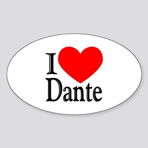 I Love Dante Oval Sticker