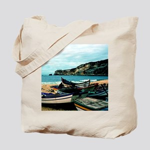Portugal Algarve Cliffs with Boats Tote Bag