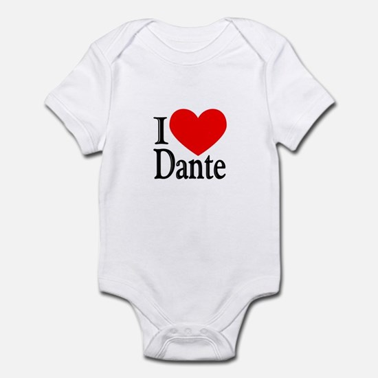 I Love Dante Infant Bodysuit