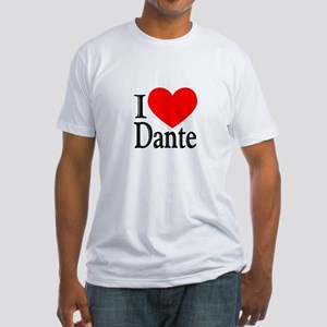 I Love Dante Fitted T-Shirt