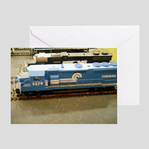 Blue Train Greeting Card