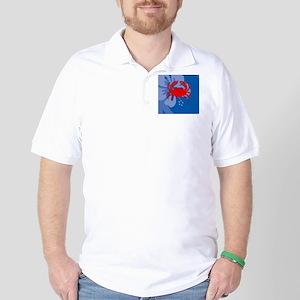 Crab Womens All Over Print T-Shirt Golf Shirt