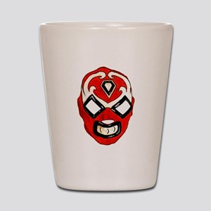 Mexican Wrestling Mask T-Shirt Shot Glass