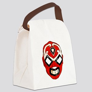 Mexican Wrestling Mask T-Shirt Canvas Lunch Bag