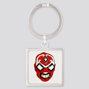 Mexican Wrestling Mask T-Shirt Square Keychain