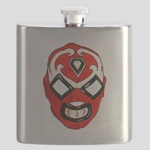 Mexican Wrestling Mask T-Shirt Flask