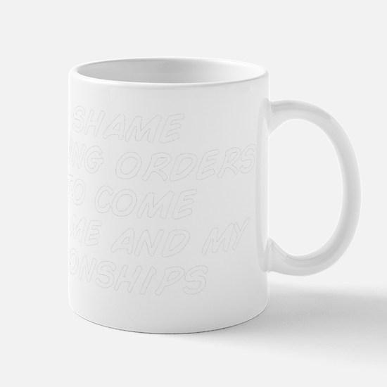 it's a shame restraining orders ha Mug