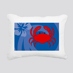 Crab Tea Recipe Box Rectangular Canvas Pillow