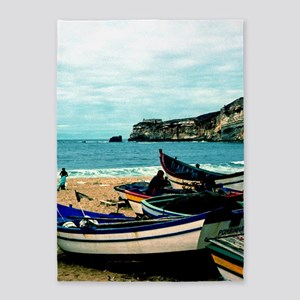 Portugal Algarve Cliffs with Boats 5'x7'Area Rug
