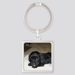 Adorable Puppy Square Keychain