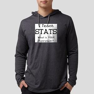 teach stats Mens Hooded Shirt