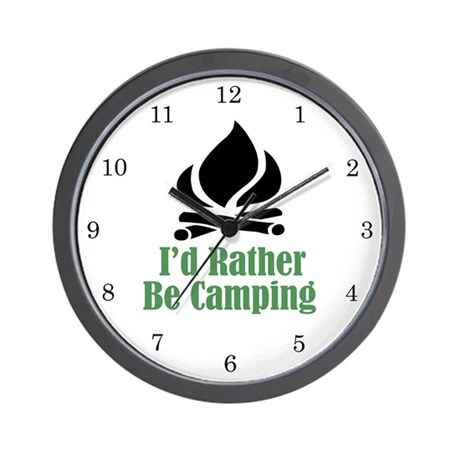 Rather Be Camping Wall Clock (w/numbers)