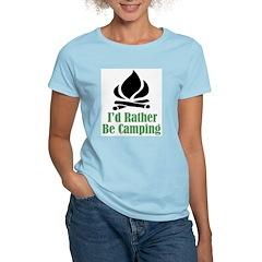 Rather Be Camping Women's Light T-Shirt