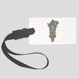 Plaid Mandolin Headstock Large Luggage Tag