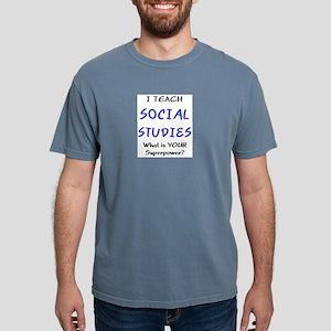 teach social studies Mens Comfort Colors Shirt