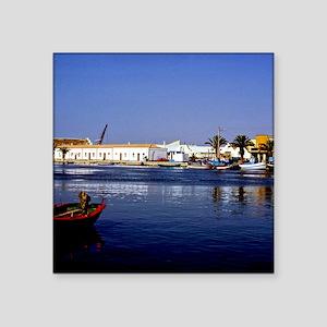 """Portugal Seaside Sapphire   Square Sticker 3"""" x 3"""""""