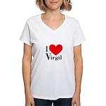 I Love Virgil Women's V-Neck T-Shirt