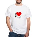 I Love Virgil White T-Shirt