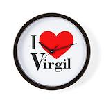 I Love Virgil Wall Clock