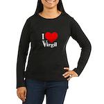 I Love Virgil Women's Long Sleeve Dark T-Shirt