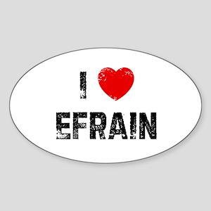 I * Efrain Oval Sticker