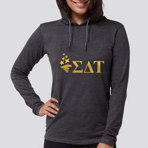Sigma Delta Tau Letters Womens Hooded Shirt
