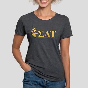 Sigma Delta Tau Letters Womens Tri-blend T-Shirt