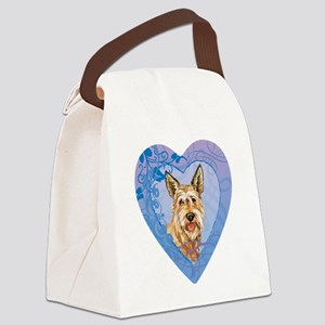 berger-heart Canvas Lunch Bag