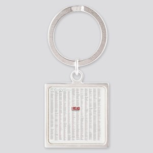 Comedy of Errors shower curtain Square Keychain