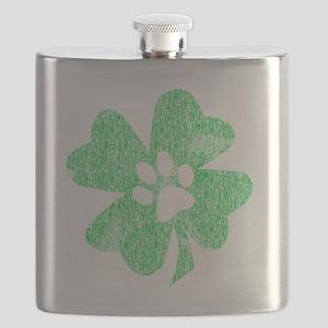 Paw Shamrock Flask