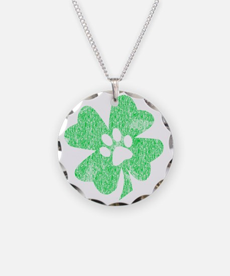 Paw Shamrock Necklace