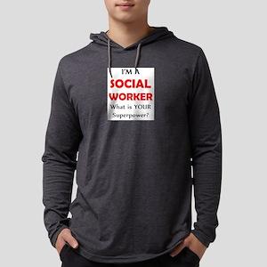 social worker Mens Hooded Shirt