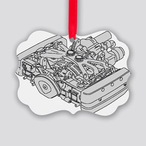 GL1800 Engine Picture Ornament