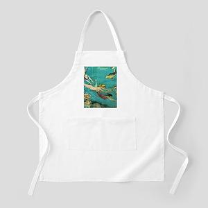 Vintage French Women Fish Sea Apron