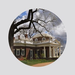Monticello 9X12 Round Ornament