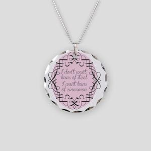 buns Necklace Circle Charm