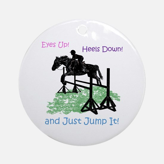 Fun Hunter/Jumper Equestrian Horse Round Ornament