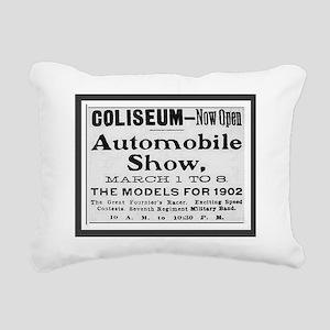 1902 Chicago Auto Show Rectangular Canvas Pillow