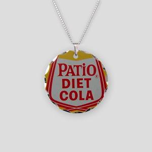 Patio Diet Cola Necklace Circle Charm