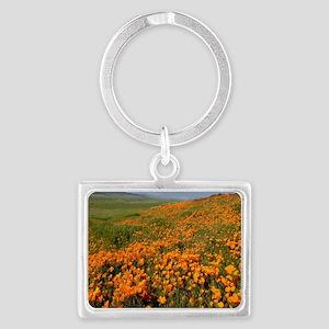 Field of Poppies Landscape Keychain
