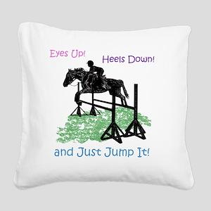 Fun Hunter/Jumper Equestrian  Square Canvas Pillow
