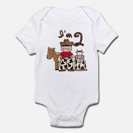 Cowboy 2nd Birthday Infant Bodysuit