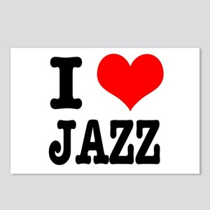 I Heart (Love) Jazz Postcards (Package of 8)